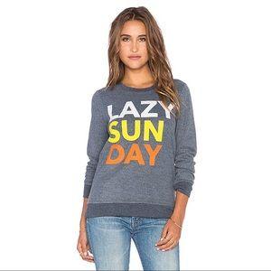Chaser Gray Print Lazy Sunday Sweatshirt S
